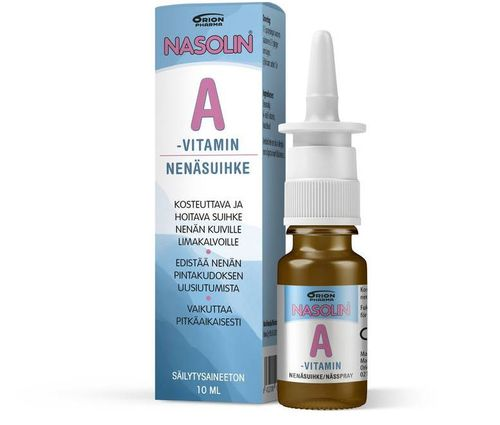 NASOLIN A-VITAMIN nenäsuihke 10 ml