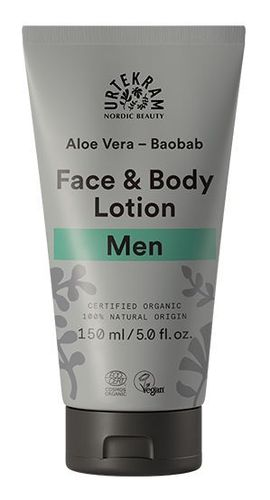 URTEKRAM LUOMU FOR MEN FACE and BODY LOTION voide 150 ml **