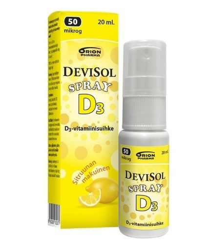 * * DEVISOL SPRAY D-vitamiini 50 mikrog 20 ml