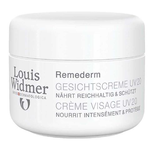 LOUIS WIDMER REMEDERM FACE CREAM UV 20 hoitovoide kasvoille 50 ml