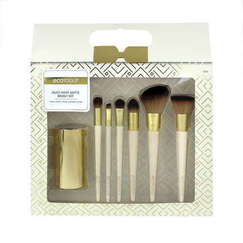 ECOTOOLS MUST HAVE BRUSH SET sivellinsetti 6 sivellintä ja teline