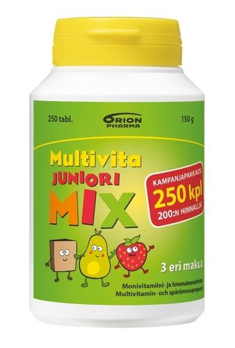 * * MULTIVITA JUNIORI MIX 200 purutablettia + 50 tablettia