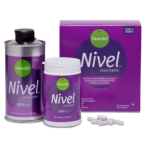 NUTROLIN HIP & JOINT koiralle 450 ml + 180 tablettia