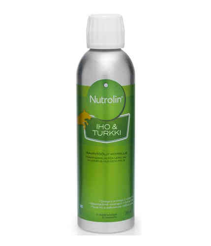 NUTROLIN SKIN and COAT ravintoöljy koirille 265 ml