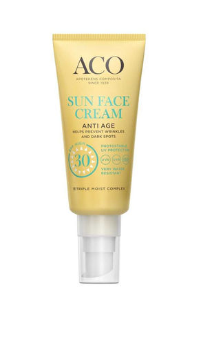 ACO SUN FACE CREAM ANTI AGE SPF 30 aurinkovoide kasvoille 40 ml
