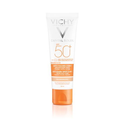 VICHY CAPITAL SOLEIL ANTI-DARK SPOTS SPF50 aurinkovoide kasvoille 50 ml