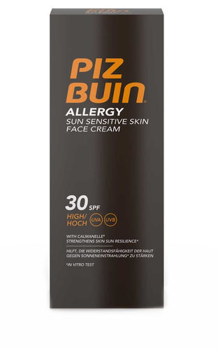 PIZ BUIN ALLERGY SUN SENSITIVE SKIN FACE CREAM SPF30 aurinkovoide kasvoille 50 ml