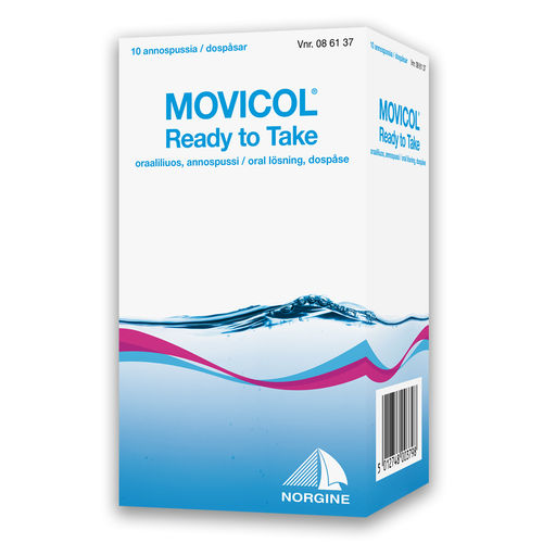 MOVICOL Ready to Take annospussi 10 x 25 ml