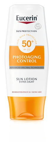 EUCERIN PHOTAGING CONTROL SUN LOTION EXTRA LIGHT aurinkosuojavoide SPF50+ 150 ml