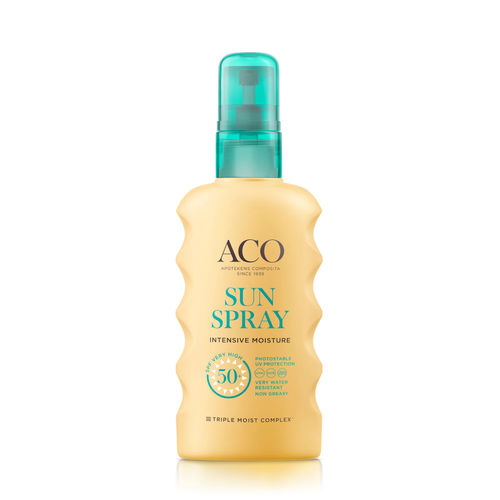 * * ACO SUN SPRAY SPF 50+ kosteuttava aurinkosuihke 175 ml