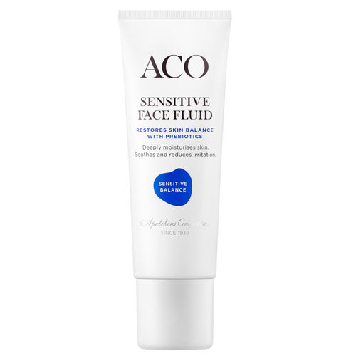 ACO SENSITIVE BALANCE FACE FLUID herkän ihon hajusteeton kosteusvoide 50 ml