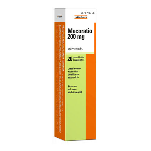 MUCORATIO  200 mg 20 poretablettia