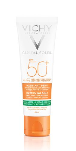 VICHY CAPITAL SOLEIL MATTIFYING 3-IN-1 OIL CONTROL SPF50+ aurinkovoide 50 ml