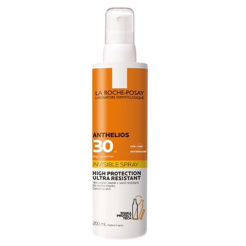 LA ROCHE-POSAY ANTHELIOS INVISIBLE SPRAY SPF30 aurinkosuihke vartalolle 200 ml