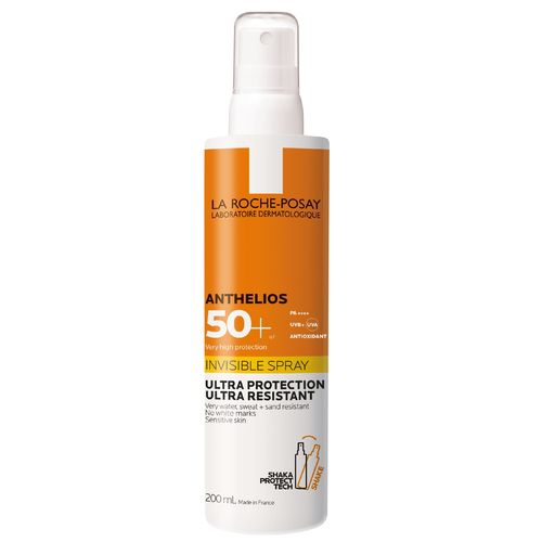 LA ROCHE-POSAY ANTHELIOS INVISIBLE SPRAY SPF 50+ aurinkosuihke 200 ml