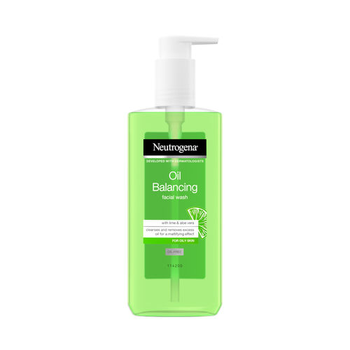 NEUTROGENA OIL BALANSING FACIAL WASH puhdistusgeeli 200 ml *