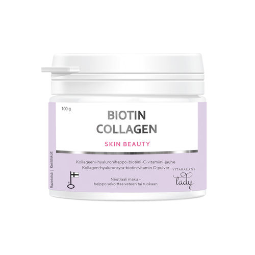 BIOTIN COLLAGEN SKIN BEAUTY kollageenijauhe 100 g