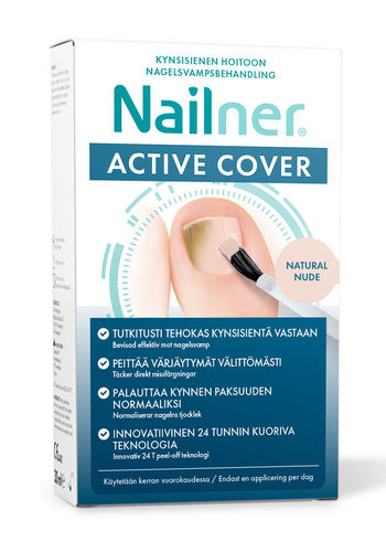 NAILNER ACTIVE COVER NUDE kynsisienihoito 30 ml **